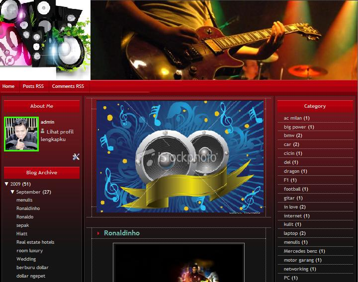 music templates free free blogger skin